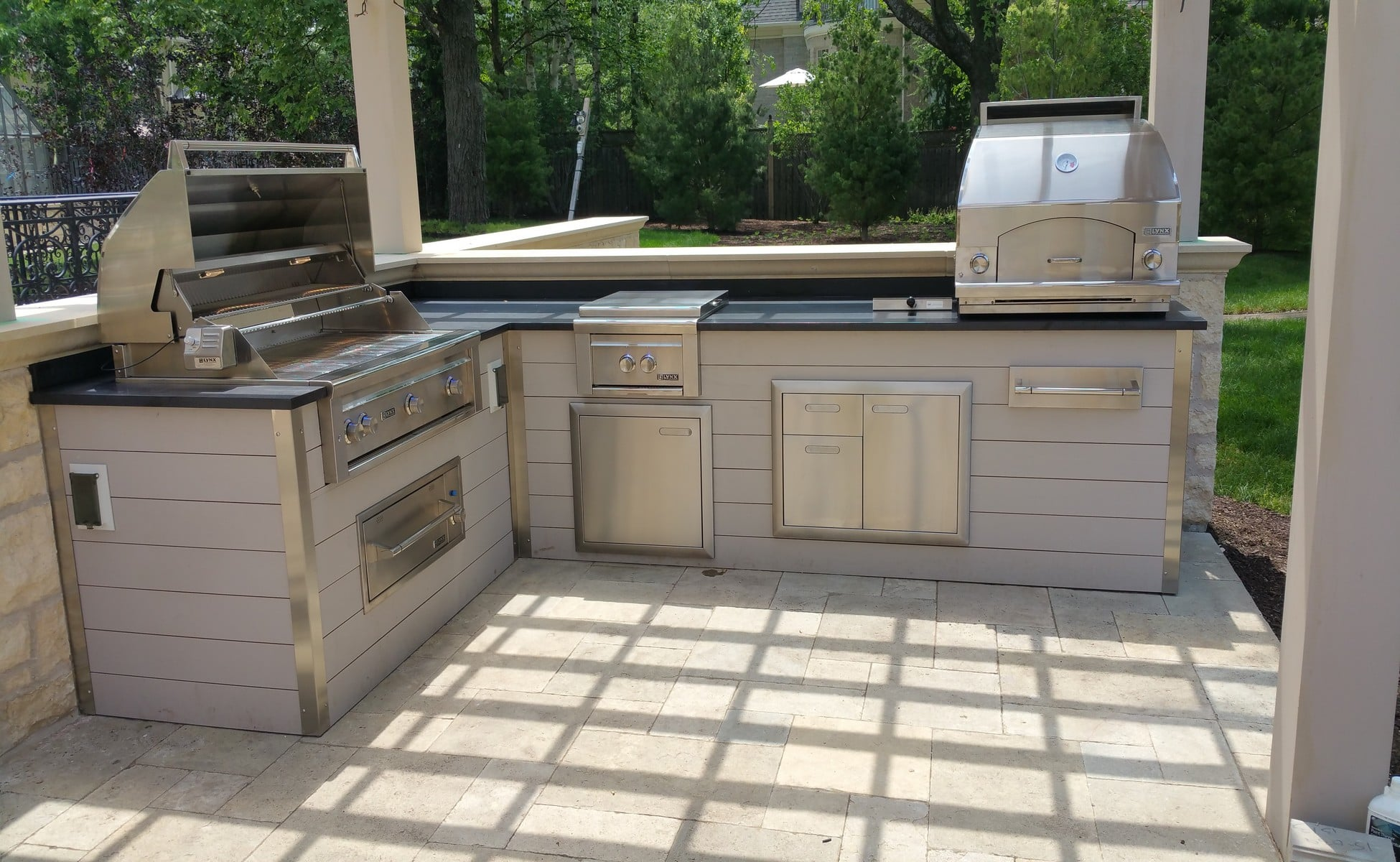 Painted Wood Outdoor Kitchen